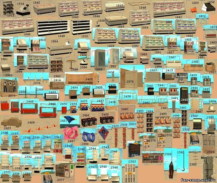 объекты самп с картинками